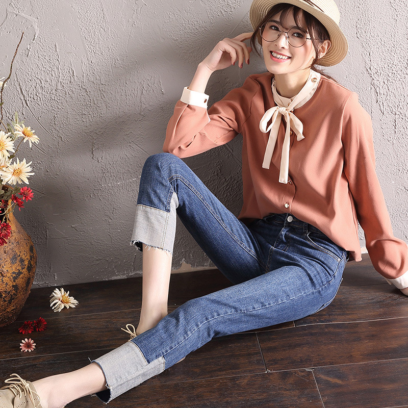 2019 Summer hot DN women   jeans   denim   jeans   skinny pencil pants casual style 8P11