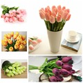 10Pcs Artifical Real Touch PU Tulips Flower Single Stem Bouquet Room Home Decor