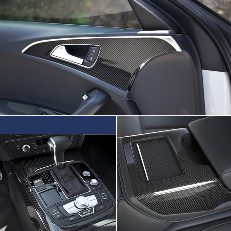 Image 2 - 30*100CM Car Stickers 5D Carbon Fiber Film Inner Decor Anti Scratch Car Cover Car Accessories For Volkswagen Audi