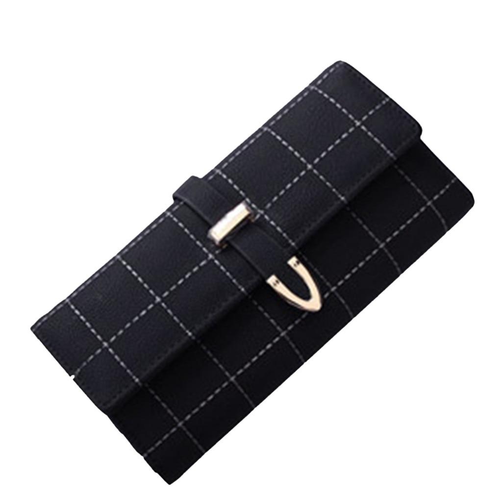 Women Wallet Card-Holder Phone-Bag Designer Purse Drawstring Long Luxury Brand Zipper