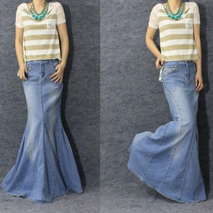 Compare Prices on Long Jeans Skirts- Online Shopping/Buy Low Price ...