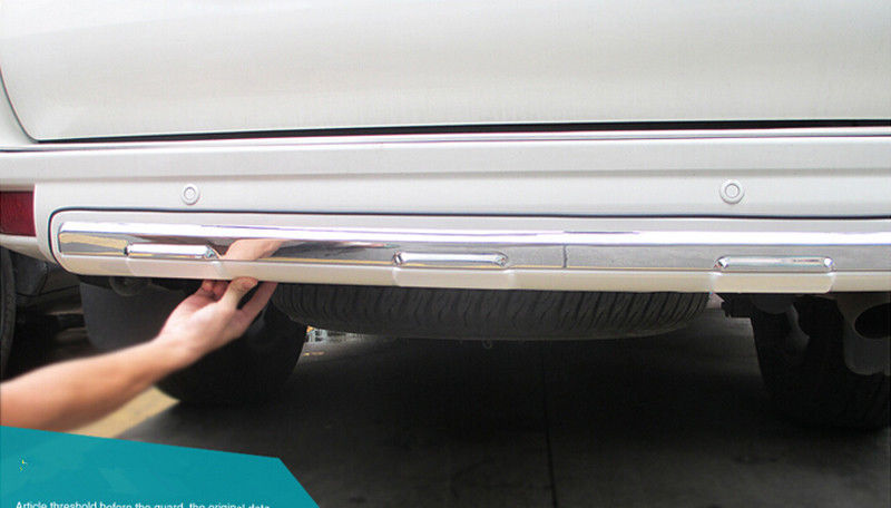 ФОТО Chrome Pearl White Under Rear Bumper Cover Trim For Toyota Land Cruiser Prado Fj150 2010-2015
