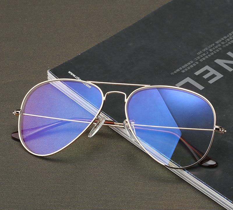 7f831a70c46 MINCL Blue Light Blocking Glasses Frame Blocking Blue Light Play Computer  Games Glasses Frame Oversized Pilot Glasses Frame-in Eyewear Frames from  Men s ...