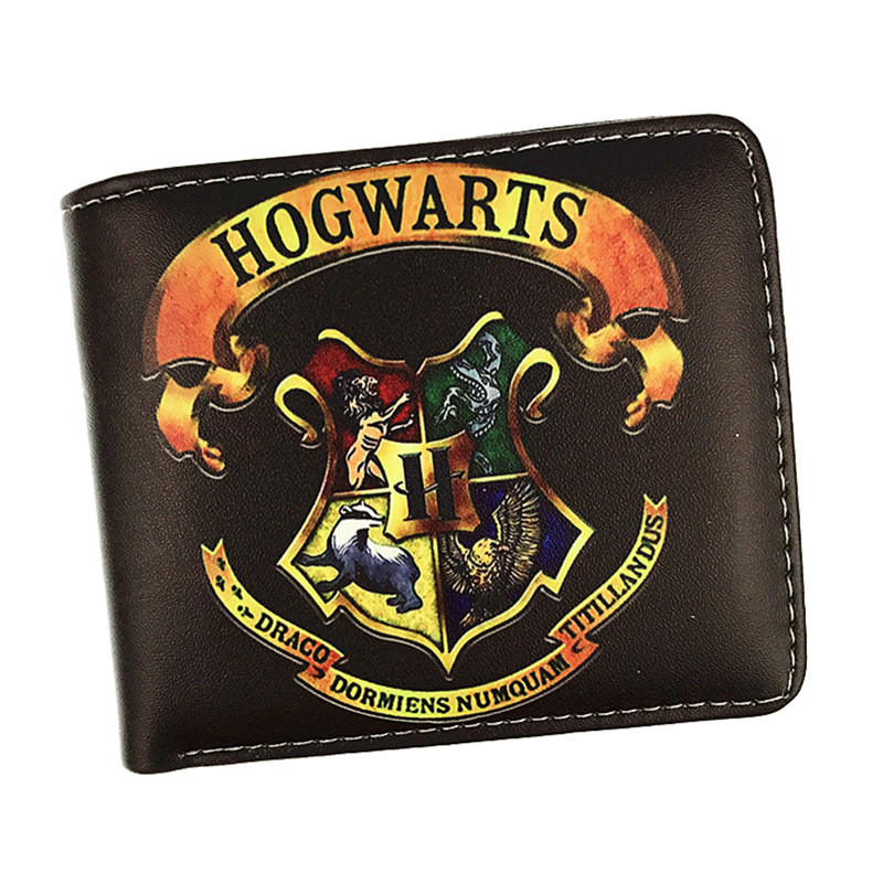 New Arrival Harry Potter Short Wallet Hogwarts Letter Wallet Coin Purse With Card Holder Zipper Pouch for Young 6 Style fvip new arrival wallet harry potter gryffindor attack on titan wonder woman pirates miku with card holder and coin purse bag