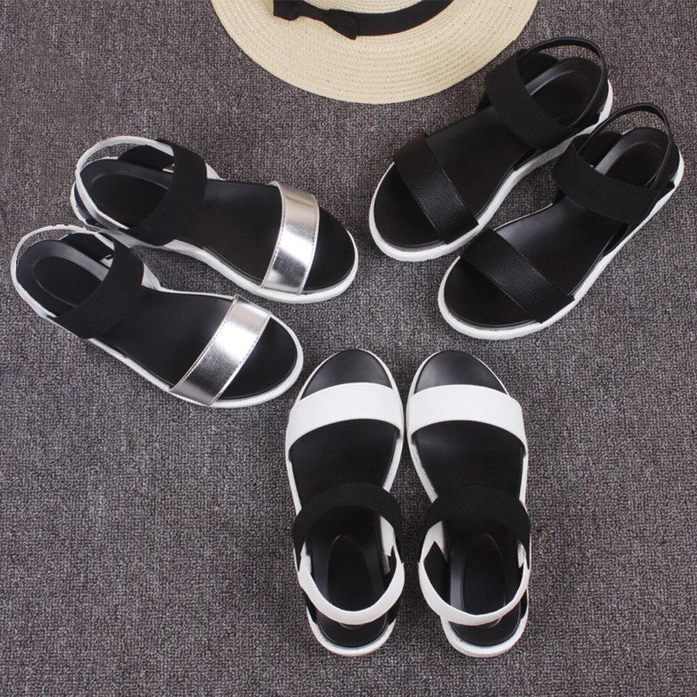 Women's Summer Sandals Shoes Peep-toe Low Shoes Roman Sandals Ladies Flip Flops #g6