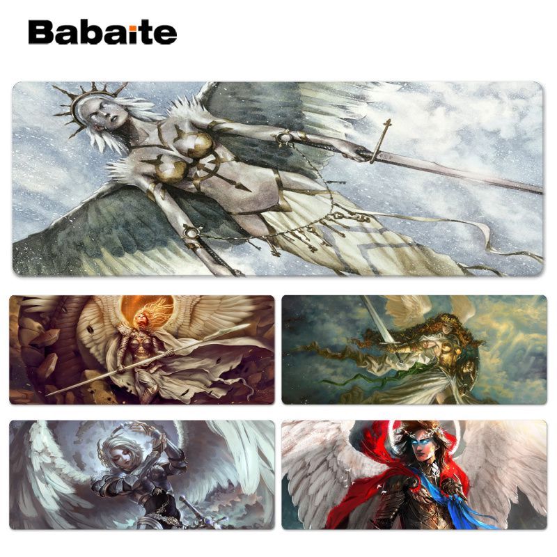 Babaite New Design Battle Angel Beautiful Anime Lockedge Mouse Mat Size for 30x90cm 40x90cm Speed Mouse Pad
