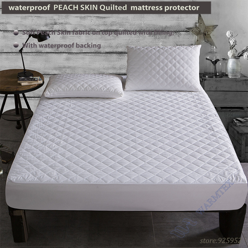 Quilted waterproof for 10-20cm mattress all size Waterproof Mattress Protector Mattress Cover super soft and comfortable W006 A