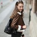 Veri Gude Женщины Искусственной Кожи Куртка Флис Лайнер Slim Fit Короткие Пальто Зимняя Куртка Женщин