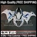 Gloss white 8Gift  For SUZUKI GSX650F 08 09 10 11 12 13 GSX 650F 77JK31 GSXF650 2008 2009 2010 2011 2012 2013 Fairing  ALL White