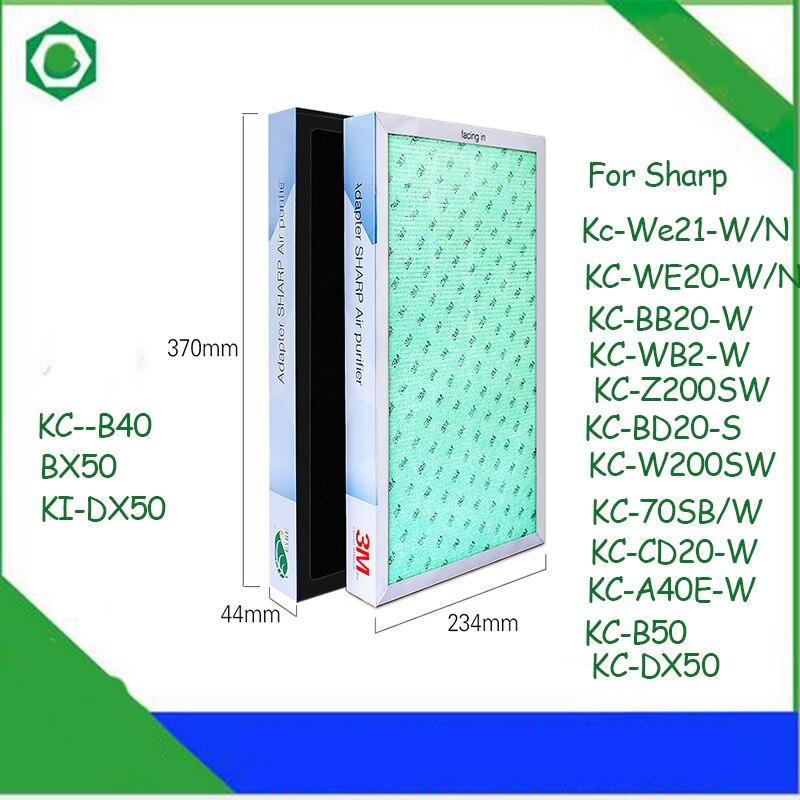 37*23.4*4.4 см Воздухоочистители фильтр для Sharp KC-W/z200sw kc-70sb/w, cd20-w, kc-b40/a40e-w/B50, ki-dx50, BX50 Воздухоочистители