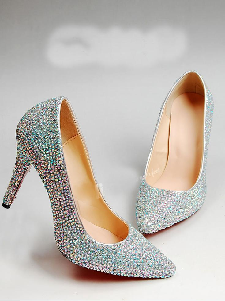 Popular Silver Beaded Pumps-Buy Cheap Silver Beaded Pumps lots