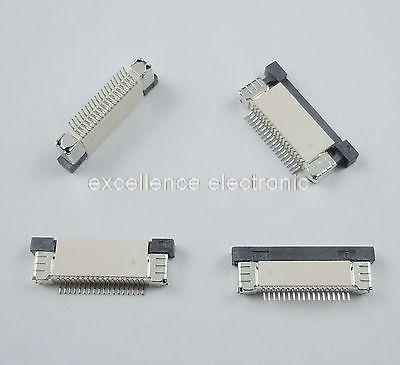 10 Pcs FPC FFC 0.5mm Pitch 18 Pin Drawer Type Ribbon Flat Connector Top Contact