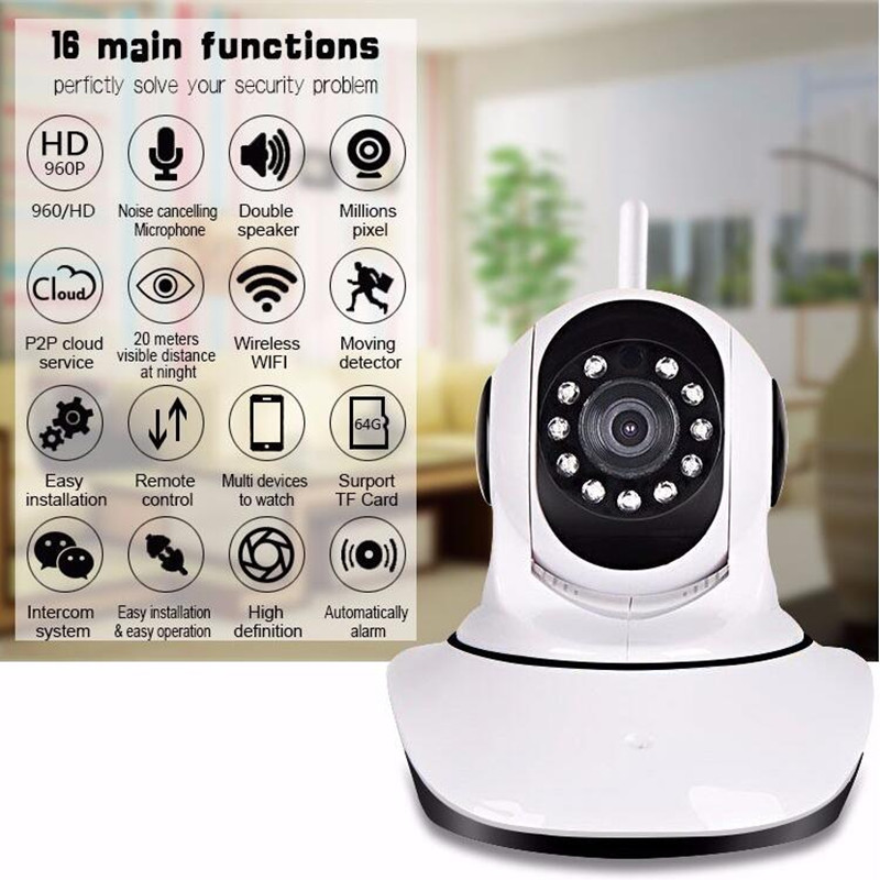 CCTV HD network 720p wifi wireless home security surveilliance ip camera, Baby Monitor, Night Vision, Motion detect