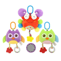 Infant Newborn Toddler Baby Kids Cute Animals Stroller Bed Around Hanging Bell Rattle Activity Soft Toys Sleep Well Tool Toy