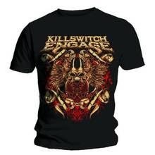 Print Logo On Shirt Men'S Killswitch Engage 'Bio War Short Sleeve Fashion Crew Neck T Shirts killswitch engage warsaw