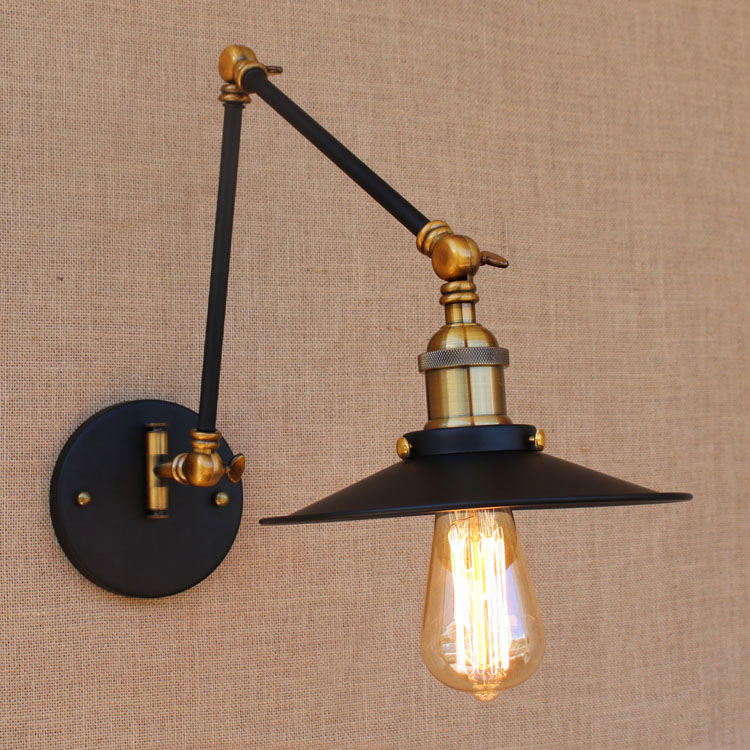 Iron retro loft style style industrial wall for Old looking light fixtures