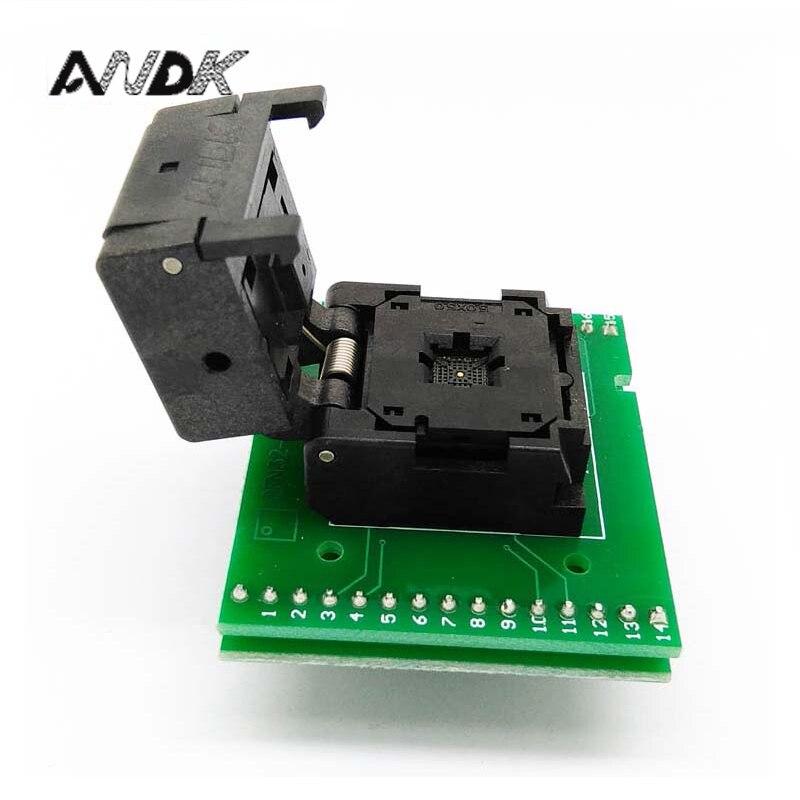 QFN28 MLF28 WLCSP28 à DIP28 Programmation de Test Socket Pas 0.5mm IC Corps Taille 5x5 IC550-0284-011-G À Clapet SMD Test Socket