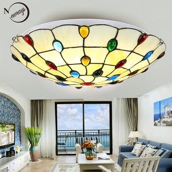 Rocznika klasyczny szklana lampa sufitowa LED z 2 światła nordic nowoczesne dekoracje domu sufitu światło dla pokoju gościnnego hotel sypialnia holu