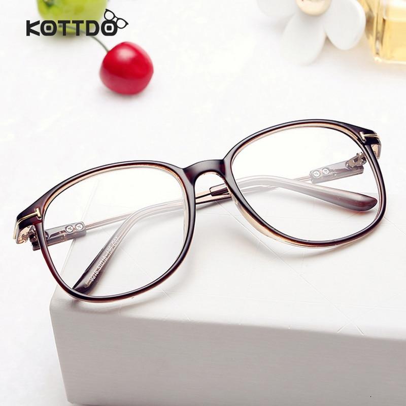 Large Frame Retro Glasses : KOTTDO Retro Vintage Eyeglasses Frame Brand Deisgner Plain ...