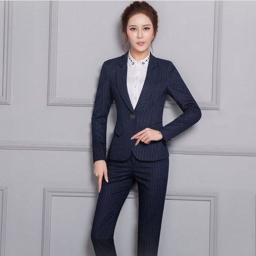 Professional Female Long-Sleeve Suit Pants Skirts Fashion Slim Business Ladies Office Wear Trouser or Skirts Suits Blazer Set