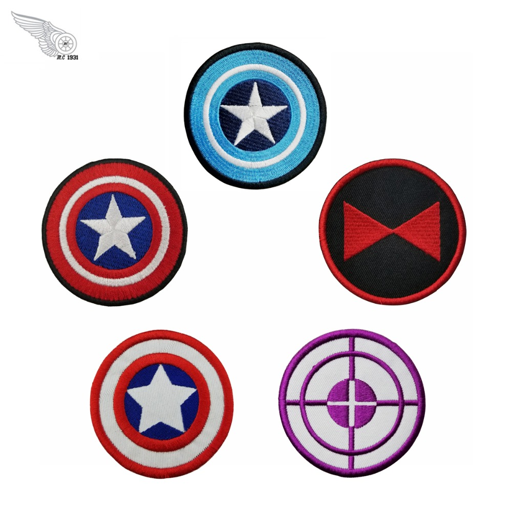 Captain America Marvel movies series patch custom embroidery iron on patches for jacket bag films applique