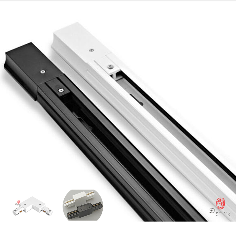 50 cm 길이 알루미늄 led 트랙 라인 0.5 미터 슬라이드 led 트랙 조명 레일 설치 스포트 라이트베이스 i & t 커넥터 조립 왕조