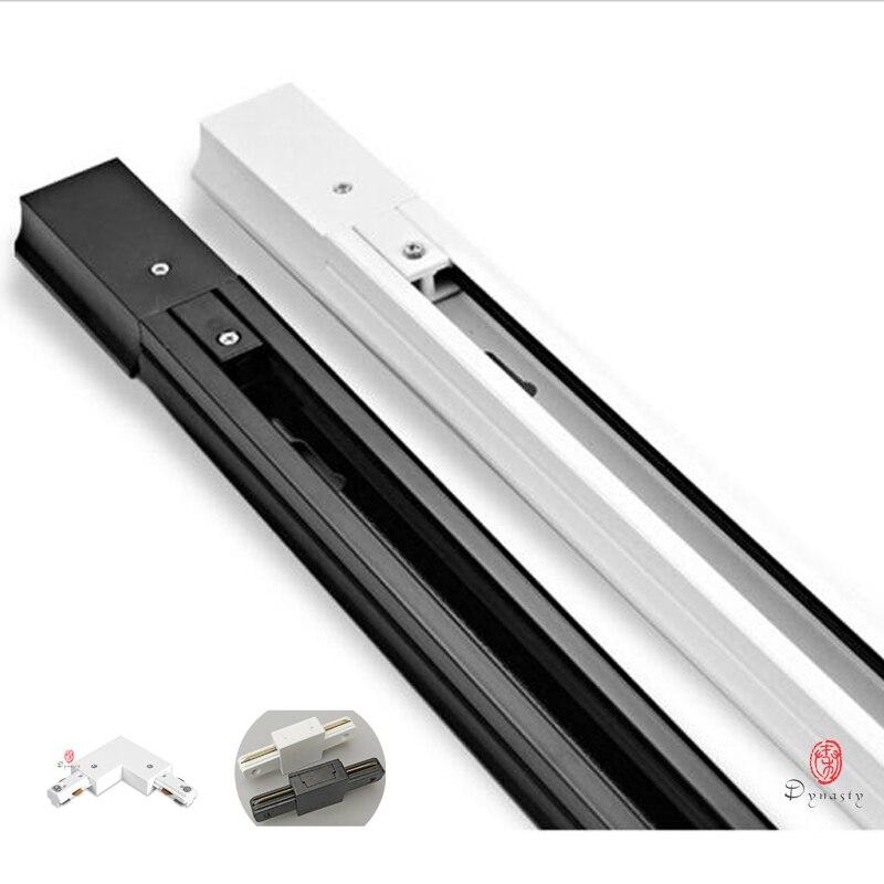50CM Uzunluk Alüminyum LED Parça Hattı 0.5 Metre Slayt LED Parça Işıkları Raylı Kurulum Spot Tabanı I & T konektörü Montajı Hanedanı