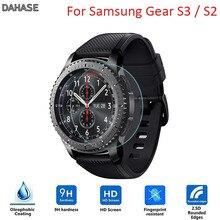 2 sztuk/partia 9H 2.5D hartowane zegarek szklany Film do Samsung biegów S3/S2 klasyczne/Frontier przeciwwybuchowe folia ochronna