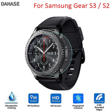 2Pcs/Lot 9H 2.5D Tempered Glass Watch Film For Samsung Gear S3/S2 Classic/Frontier Explosion proof Protective Film