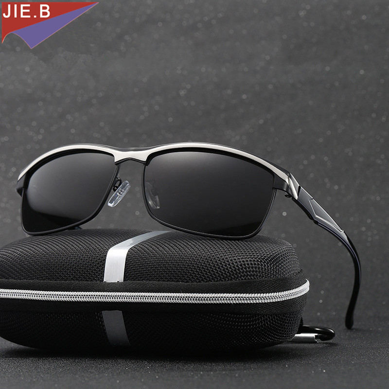 HD high-end business classic polarized sunglasses Men fashion brand  goggles Driving business casual choice for