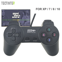 For Win9X / 2000 / XP / 7 / 8 / 10 Controle Black Wired USB Gamepad Joystick Joypad Game Controller For Game Console