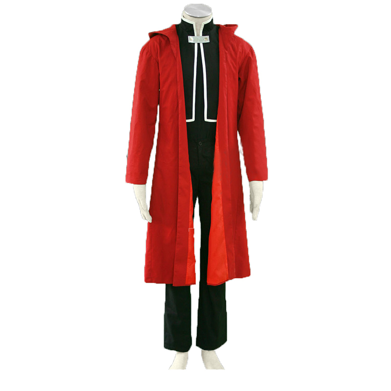 FullMetal Alchemist Edward Elric Halloween Whole Suit Cosplay Costume