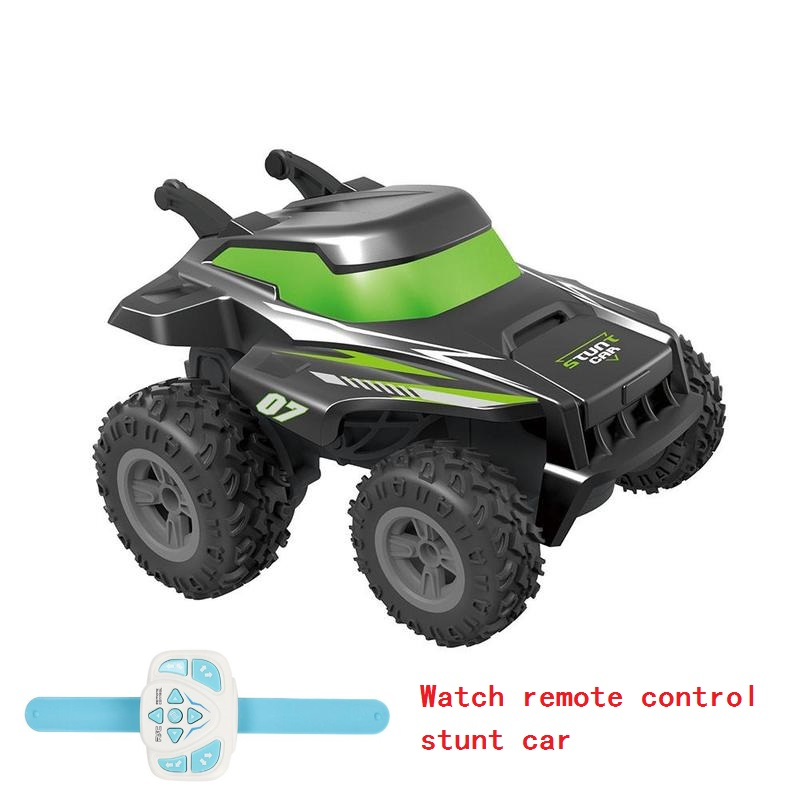 Wireless RC Car Tumbling Stunt Dump Truck Watch Remote Control Toys For Children Electric Cool RC Cars Boy Birthday Best Gifts image