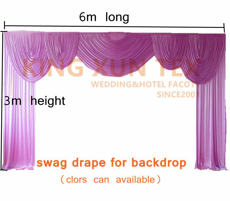 100 Thick Ice Silk Backdrop Swag Valance Drape Fit On Wedding Backdrop Curtain Decoration