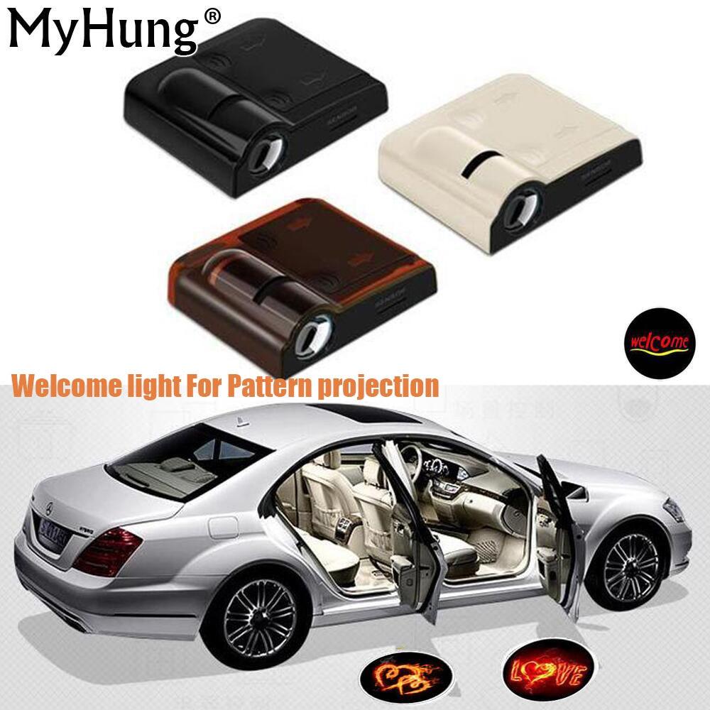 Pintu mobil, Selamat datang pola cahaya proyektor untuk semua mobil - Lampu mobil - Foto 1