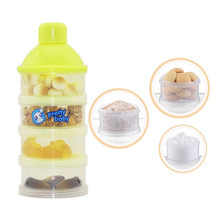 4 Layers Detachable Infant Baby Milk Powder Dispenser Convenient Baby Travel Baby Food Storage Box Random
