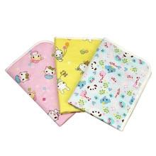 Reusable Baby Diapers Mattress 50*70cm Diapers for Newborns Random Pattern Linens Waterproof Sheet Changing Mat