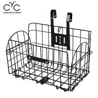 Outdoor Cycling Foldable Bike Handlebar Bar Rear Front Basket Iron Holder