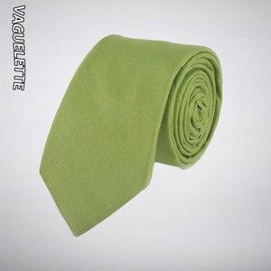 VAGUELETTE, однотонные зеленые/желтые/красные/черные галстуки для мужчин, обтягивающие хлопковые, ручной работы, повседневный галстук, мужской с...
