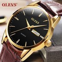 Top Luxury Brand OLEVS Men Sports Watches Men S Quartz Date Clock Man Swiming Leather Business