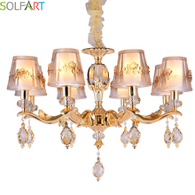 hot deal buy solfart chandelier avize modern chandelier lighting for room dining crystal pendants for chandeliers led crystal chandelier 8882