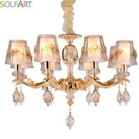 SOLFART Chandelier Avize Modern Chandelier Lighting For Room Dining Crystal Pendants For Chandeliers Led Crystal Chandelier
