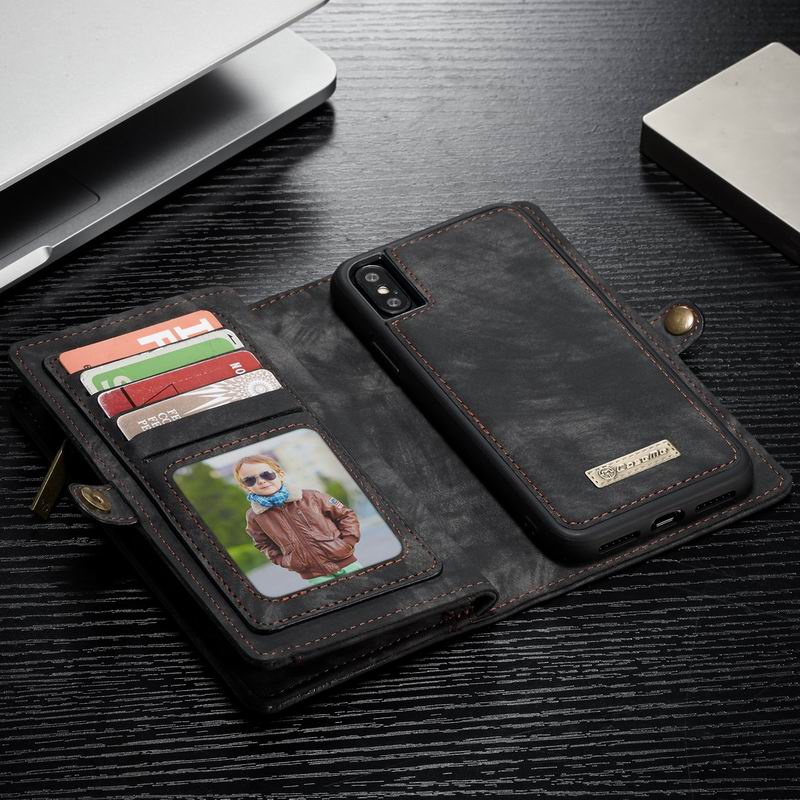 the latest 654b9 92f72 For Iphone X 8 Plus Multifunction Detachable Leather Iphone 7 Plus 6S Plus  Wallet Pouch Card Cover For Samsung S7 Edge