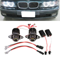 Novo 1 Par 1200LM 20 W R5 LED Angel Eye Halo de Luz para BMW E90/E91/09-11