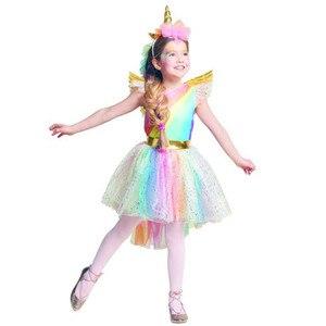 Image 1 - หญิงชุดยูนิคอร์นเครื่องแต่งกายRainbow Tutuเจ้าหญิงคอสเพลย์ชุดวันเกิดเด็กเด็กฮาโลวีนCarnivalยูนิคอร์นเสื้อผ้า