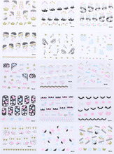 MingLee 30 sheets Nail Sticker 3d French/Flower Women Lady Beauty Charm Decorations Nail Art Foils Decals DIY Tools YMAG01-15 1 sheets diy polish decorations beauty charm blue flower nail art stickers decals full wraps foils manicure decorations xf1372