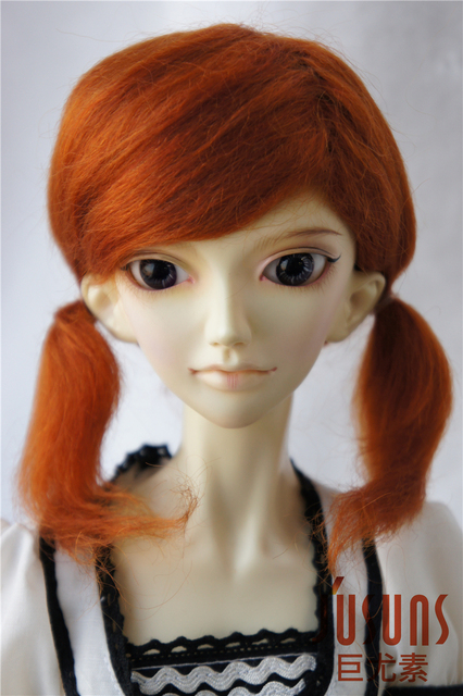 1/3 SD BJD wigs The PP braid mohair doll wig 8-9inch Lati red doll accessories Toy hair  Porcelain Doll wig