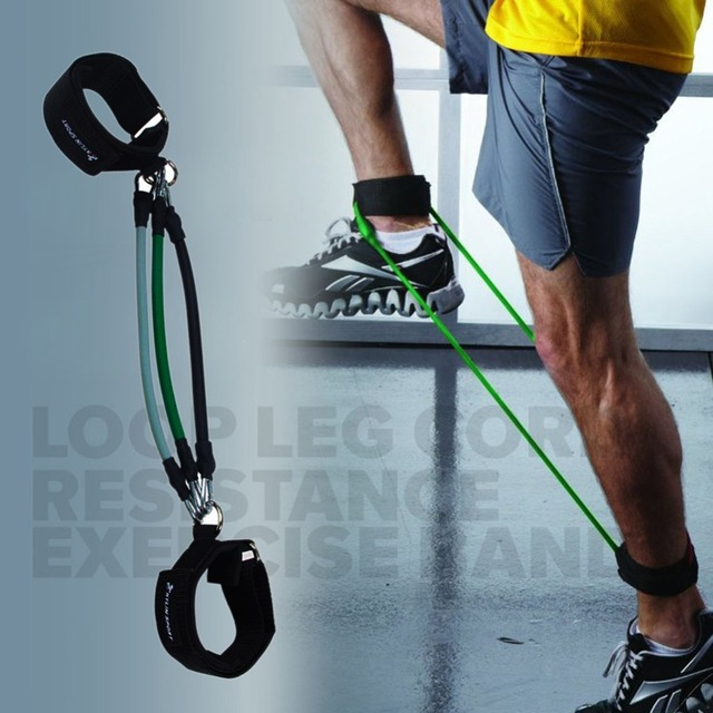 Resistance Bands Thigh Workout: 3pcs Leg Thigh Resistance Band Fitness Exercise Latex Tube
