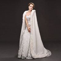 winter white queen princess cloak/medieval vintage robe/hooded long party cosplay/stage/this is only cloak not include others