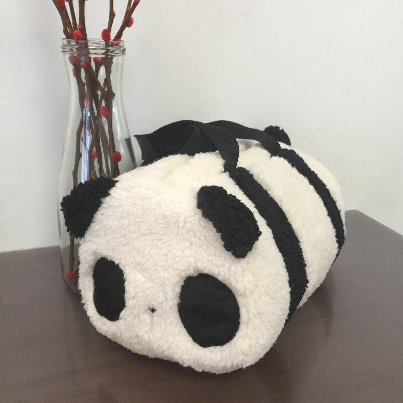 1125 40 De Réductionaeruiy Mignon Doux En Peluche Dessin Animé Animal Noir Et Blanc Panda Visage Jouet Main Seau Sac Enfants Et Adultes Beau